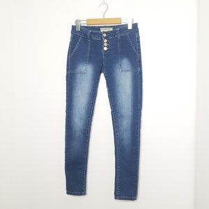 Blue Savvy Jeans| Skinny Stretch Denim  Button Fly